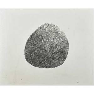 David culver american b 1951 two graphite on paper framed both untitled 1995 initialed and dated larger 14 x 17 sheet together with three stone sculptures one titled balancing stone
