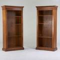 Italian pair of walnut bookcases ca 1990s unmarked 84 x 35 12 x 17