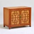 Heritage henredon twodoor cabinet usa 1950s teak brass painted wood unmarked 35 12 x 31 x 17