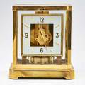 Le coultre atmos fifteen jewels gilt brass table clock switzerland late20th c marked 9 14 x 7 12 x 6