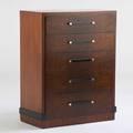 Donald deskey amodec tall dresser usa 1930s burled walnut walnut ebonized wood chromed metal metal tag and stenciled 46 12 x 37 x 19 12