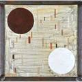 Michael young american b 1952 mixed media on paper untitled 1989 framed 18 12 x 18 12 sight