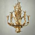 Tom greene attr hand torched and cut brass chandelier in the form of leaves and flowers ca 1960s unmarked overall 31 x 19 dia without chain