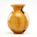 Melvin lindquist turned rock maple vase 1975 marked l 375 rock maple 7 12 x 5 dia