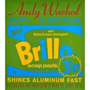Andy warhol american 19281987 screenprint in colors brillo soap pads pasadena art museum 1970 29 78 x 25 34 sheet