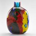 Dino martens attr possibly avem glass vase with colorful patches of granzioli and murrine decoration murano italy second half of 20th c unmarked 11 12 x 5 12 dia