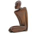 Franz hagenauer hagenauer wien nubian male sculpture austria 1930s mahogany brass stamped handmade hagenauer wienmade in vienna austria 10 12 x 7 12