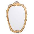 Designer carved and gilt wood mirror new york 1970s labeled fb decorative arts inc new york 51 x 35 x 2