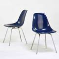 Charles and ray eames herman miller pair of side chairs usa 1960s plastic reinforced fiberglass zincplated metal raised signatures 31 12 x 18 12 x 23