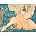 Marie laurencin french 18851956 lithograph chalcographie de louvre in colors jeunes filles au tennis 1922 signed in plate 22 18 x 26 34 sheet