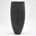 Giles bettison black series no 6 murrini glass vase australia 1999 signed and labeled 13 34 x 5 12 dia