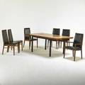 Milo baughman  dillingham dining table and six chairs four arm six side usa 1970s rosewood walnut ash ebonized wood vinyl manufacturers labels to chairs dining table 29 12 x 72 x 39