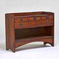 Arts  craftsman contemporary sideboard in the style of gustav stickley new york ca 1995 quartersawn oak hammered copper branded 40 x 54 x 18