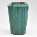 Pewabic vase with crackled green glaze detroit mi circular pewabic detroit stamp 10 12 x 7 dia