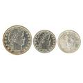 20th c type coins eighteen coins all in ms 61 including 1908 barber 25c 1917 standing liberty 25c 1912 barber 50c etc