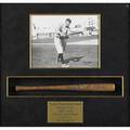 Ty cobb autograph on hillerich  bradsby miniature baseball bat mounted in shadow box frame bat 14 james spence authentication