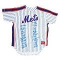 1986 new york mets world series autographed jersey signed by twentythree players including dwight gooden darryl strawberry lenny dykstra keith hernandez and ron darling limited edition 8686 3