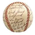 1958 pittsburgh pirates autographed baseball signed by thirtyfour players including roberto clemente bill mazeroski and ted kluszewski d murtagh ghost signed james spence authenticity
