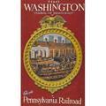 Pennsylvania railroad poster original artwork gouache illustration by john collins visit washington  symbol of democracy ca 1950 45 34 x 29