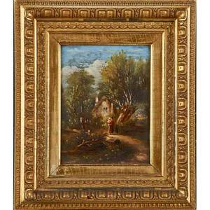 William r miller american 18501923 two oil on board landscapes 1889 framed signed and dated 8 12 x 6 12