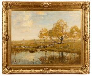 Henry Ranger Signed Oil Connecticut Landscape