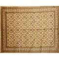 Qum design silk oriental rug all over floral design on cream ground 20th c 133 12 x 96