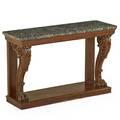 Regency marble top console table mahogany 19th c 33 x 51 x 17