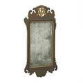 George ii parcel gilt mirror mahogany mirror with scrolled frame mid 18th c 31 x 17 12