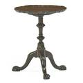 Midatlantic chippendale tilt top candle stand mahogany with tripod base on ball and claw feet mid 18th c 23 12 x 19 dia
