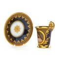 Royal vienna porcelain cup and saucer portrait of a young woman reveuse ca 1900 signed donath titled and numbered with beehive mark cup 3 34