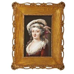 Kpm porcelain plaque maria theresa mother of marie antoinette ca 1900 framed impressed kpm mark with scepter plaque 8 12 x 5 34