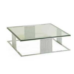 Milo baughman 1923  2003 thayer coggin coffee table high point nc 1970s chromed steel glass 15 14 x 48 12 sq