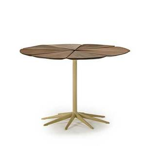 Richard schultz b 1926 knoll associates dining table new york 1950s redwood enameled iron manufacturers label 27 12 x 42 dia