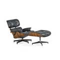 Charles eames 1907  1978 ray eames 1912  1988 herman miller lounge chair and ottoman no 670 and 671 zeeland mi 1950s rosewood leather enameled aluminum enameled steel rubber paper