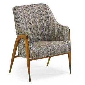 edward wormley 1907  1995 dunbar lounge chair berne in 1950s ash brass wool unmarked 37 x 29 x 30