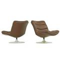 Geoffrey harcourt b 1935 artifort pair of lounge chairs france 1970s enameled steel leather manufacturers labels 25 x 28 x 28