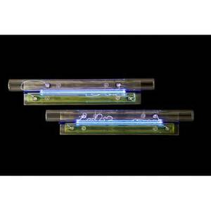 Tom galbraith b 1960 pair of double sconces milwaukee wi 2006 steel neon tube glass unmarked 4 x 24 x 8 provenance available certificate of authenticity from the katie gingrass galler