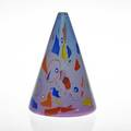 Richard marquis b 1945 ro purser noble effort conical blown glass vessel with murrini california 1984 signed and dated in murrine 9 12 x 6 12