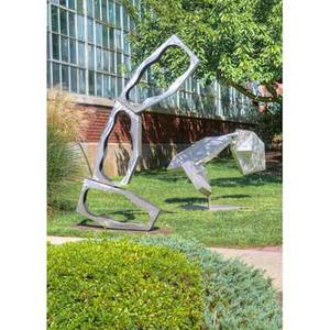 David c savage 1923  2004 large stainless steel outdoor sculpture princeton nj 1968 signed and dated overall 90 x 64 x 20