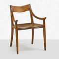 Sam maloof 1916  2009 sculpted walnut armchair alta loma ca 1980 signed dated and numbered with dedication 31 x 22 12 x 22 12