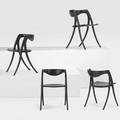 David ebner b 1945 four brookhaven chairs usa 2000s ebonized wood all carved dne 83 and artists cipher 30 x 20 x 20