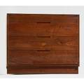 George nakashima 1905  1990 nakashima studios walnut fourdrawer dresser new hope pa 1956 faintly signed with clients name 30 x 36 x 19 12 provenance copy of original order card and l