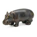 Gunnar nylund 1904  1997 rorstrand glazed stoneware hippopotamus sweden 1950s incised with rorstrand markgnsweden 4 14 7 12 x 3 provenance the lillian hoffman collection