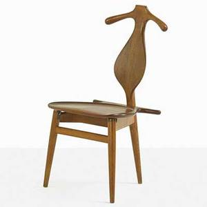Hans wegner 1914  2007 johannes hansen valet chair denmark 1960s oak teak brass leather branded 37 14 x 20 x 21