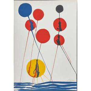 After alexander calder 1898  1976 lithograph balloons pencil signed calder and ea sheet 40 x 28