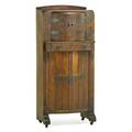 Arts and crafts bar cabinet with pullout shelf and lazy susan usa ca 1910 unmarked 54 12 x 24 14 x 14