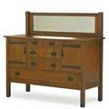 L  jg stickley sideboard with mirror fayetteville ny ca 1912 branded the work of 50 x 56 x 22