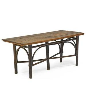 Hickory furniture co attr rustic dining table usa ca 1920 unmarked 30 x 65 34 x 30