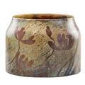 Keller  guerin luneville large glazed ceramic jardiniere with water lilies france ca 1900 signed kg luneville stamped 1k  g luneville678 9 12 x 13