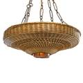 Gustav stickley rare willow chandelier no 540 eastwood ny ca 1904 willow hammered copper hammered glass patinated iron oak silk five sockets unmarked shade 8 x 31 to ceiling cap